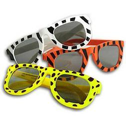 Safari Jungle Animal Print Sunglasses Shades Zebra Giraffe T