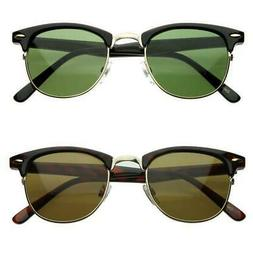 Sale Vintage Horned Rim Half Frame Sunglasses 2947