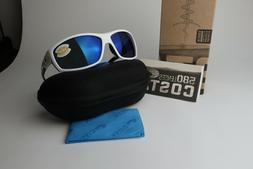 COSTA DEL MAR SALTBREAK POLARIZED Sunglasses White/Blue mirr