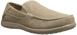 crocs Men's Santa Cruz 2 Luxe M Slip-On Loafer, Khaki/Khaki,
