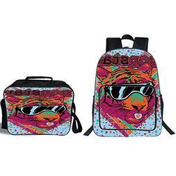 """19"""" School Backpack & Lunch Bag Bundle,Popstar Party,Popstar"""