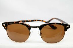 Joopin Semi Rimless Polarized Sunglasses Leopard Frame w/ Ca