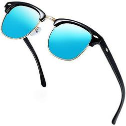 e68d564674 Editorial Pick Joopin Semi Rimless Polarized Sunglasses Women Men Retro Bra