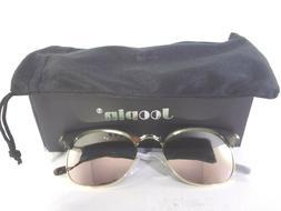 semi rimless polarized sunglasses women retro leopard