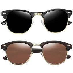 Joopin Semi-Rimless Sunglasses Women Men 2 Pack
