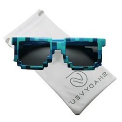 ShadyVEU Colorful Cute Block Pixel Sunglasses for Kids with