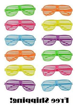 Shutter Shades For Kids Adults 12 Set Sunglasses Party Suppl