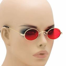 Small Oval Retro Sunglasses Classic Clear Lens Steampunk Fas