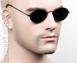 Small Oval Round Metal John Lennon Vintage Style Sunglasses