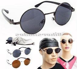 Small Round Circle Sunglasses John Lennon Hippie Vintage Cla