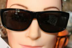 Polaroid Smooth and Sleek Shiny Black Sunglasses X8416