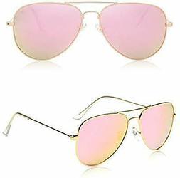 New Classic Aviator Polarized Sunglasses Mirrored UV400 Lens