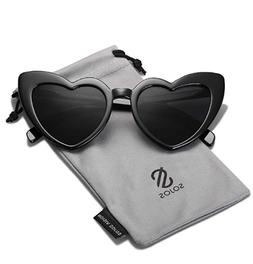 SOJOS Heart Shaped Sunglasses Clout Goggle Vintage Cat Eye M