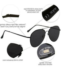 SOJOS Oversized Aviator Sunglasses Mirrored Flat Lens Free s