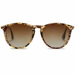 SOJOS Polarized Sunglasses for Women Men Round Classic Vinta