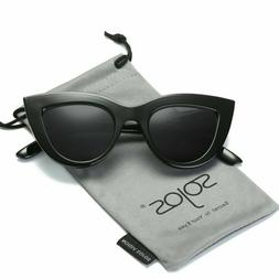 Sojos Retro Vintage Cateye Sunglasses For Women Plastic Fram