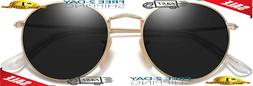 SOJOS Small Round Polarized Sunglasses for Women Men Classic