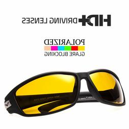 SPORT WRAP HD NIGHT DRIVING POLARIZED SUNGLASSES YELLOW HIGH