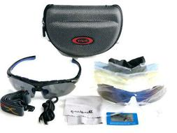 Sports Polarized Sunglasses With Interchangeable Lenses for