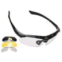 Sports Sunglasses for Men Women UV400 Protection Biking Runn