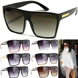 Square Flat Top Large Sunglasses Big Oversized Huge Gradient