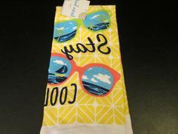 """""""Stay Cool"""" Sunglasses Design Kitchen Towels, Set of 2, NIP"""