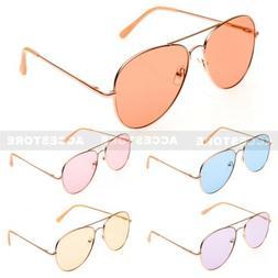 Summer Fashion Style Aviator Shape Tint Color Lens Metal Sun