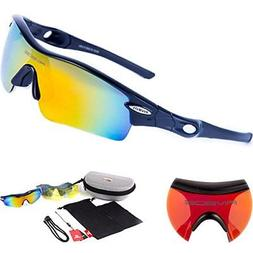 Sports Sunglasses with 5 Set Interchangeable Lenses RIVBOS 8