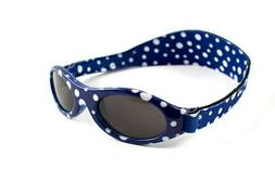Baby Banz Sunglasses Adjustable Strap - Blue Polka Dot