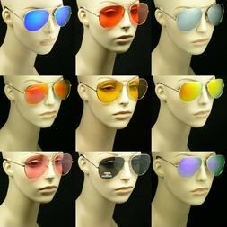 Sunglasses pilot men women lens frame color retro vintage st