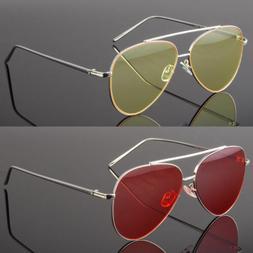 Sunglasses Aviator Men Women Tint Color Lens Frame Color Ret