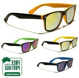 Retro Optix Sunglasses - Classic Retro Two Tone Frame - Mirr