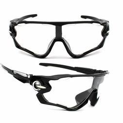 Sunglasses Clear Black Mountain Bike Cycling Helmet Sun Glas