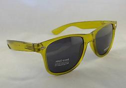 Retro Optix Sunglasses CLEAR GREEN Vintage Nerdy Men Flex Fi