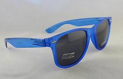 Retro Optix Sunglasses CLEAR NAVY BLUE Nerdy Men Vintage Fle