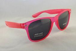 Retro Optix Sunglasses CLEAR PINK Vintage Nerdy Men Flex Fit