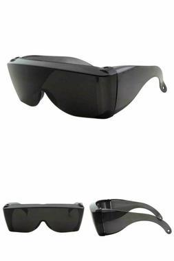 Sunglasses Cover-Ups Black Fit Over Wrap Around Wear Prescri