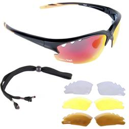 SUNGLASSES FOR CYCLING: MENS Road Bike Glasses With Intercha