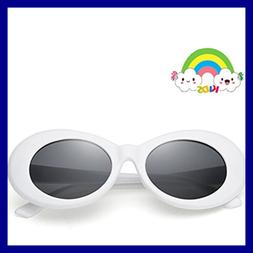 Sunglasses For Kids Bold Retro Oval Mod Thick Frame Round Le