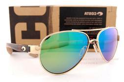 NEW Costa Del Mar Loreto Gunmetal Crystal Temple LR74 OGMP 580P Sunglasses