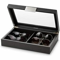 Sunglasses Organizer Case - 8 Slot Storage Holder Display Su