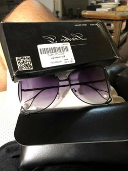 Livho Sunglasses Oversized Square Metal Frames Brand Designe