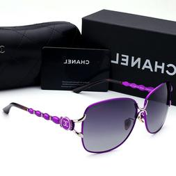 Sunglasses Polarized@₅CHANEL@₅Purple Double Gray Chip Ir