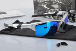 Sunglasses Half Jacket Gift Silver Polarized Blue Mercury Ir