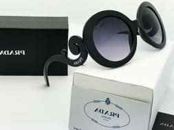 Sunglasses-Polarized Round Prada Baroque-Edition Black/Gray