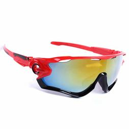 NEW Sunglasses Red Black MTB Bike Cycling Helmet Sun Glasses