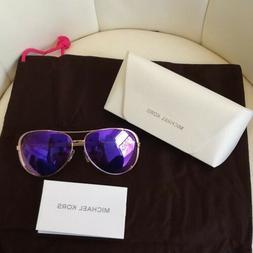 Michael Kors Sunglasses Rose Gold Color Purple Lens Women'
