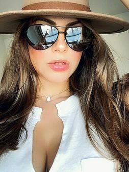 Sunglasses AVIATOR SILVER GOLD ROSE OVERSIZED Mirror Reflect