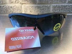 Maxx HD Sunglasses Sniper black smoke lens half frame golf T