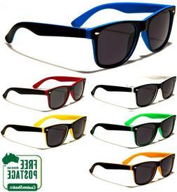 Retro Optix Sunglasses - Stylish Two Tone Frame - Matte Fini